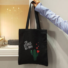 Load image into Gallery viewer, Simple Cactus Pattern Tote Bag - Abershoes