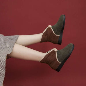 Keep Warm Velvet Cotton Shoes - Abershoes