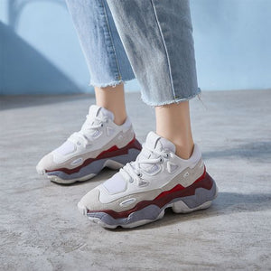 Chic Color Block Dad Sneaker Shoes - Abershoes