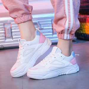 Girly White Sneaker Shoes– Abershoes