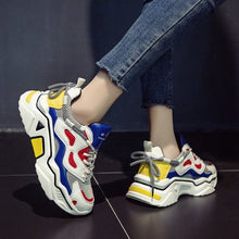 Load image into Gallery viewer, Trendy Color Block Mesh Breathable Sneaker Shoes - Abershoes