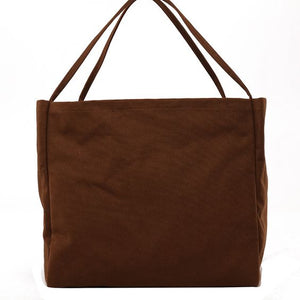 Chic Pure Color Tote Bag - Abershoes