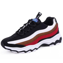 Load image into Gallery viewer, Men's Striped Color Block Sneaker Shoes - Abershoes
