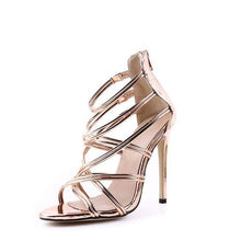 Load image into Gallery viewer, Hollow Out Cross-strap High Heel Sandals - Abershoes