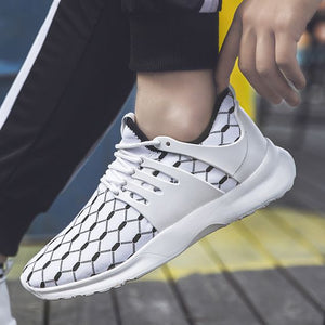 Color Block Mesh Breathable Running Shoes