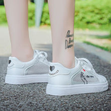 Load image into Gallery viewer, Trendy Summer Mesh Breathable White Shoes - Abershoes