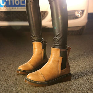 Trendy British Flat Booties - Abershoes