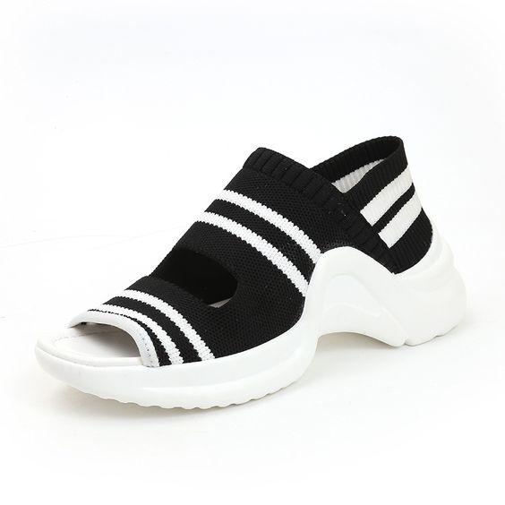 Women's Chic Summer Knitting Sandals - Abershoes