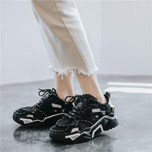 Load image into Gallery viewer, New Arrival Trendy Design Black/White Dad Sneaker Shoes - Abershoes