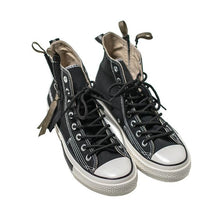 Load image into Gallery viewer, Couples Side Zipper Hip Top Canvas Shoes - Black - Abershoes