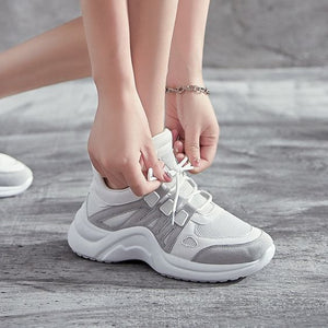 Women's Plus Size 43 Color Block Sneaker Shoes