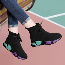 Load image into Gallery viewer, Color Block High Top Casual Sneaker Shoes - Abershoes