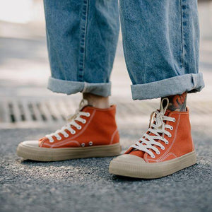 Men's Chic Street Style Canvas Shoes - Abershoes