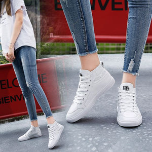 Casual White Shoes - Abershoes