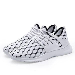 Color Block Mesh Breathable Running Shoes - Abershoes