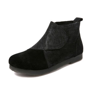 Leather Retro Booties - Abershoes
