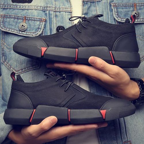 Men's British Trend Black Breathable shoes