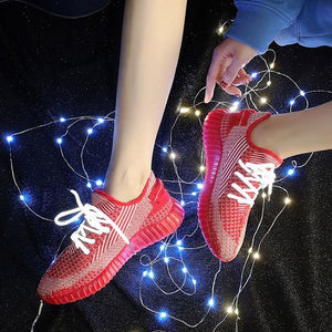 New Stylish Starry Flexible Sneaker Shoes - Abershoes