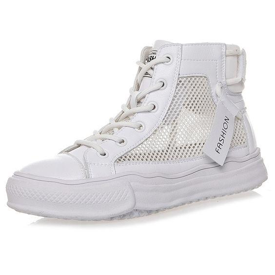 High Top Breathable Mesh Sneaker Shoes - Abershoes