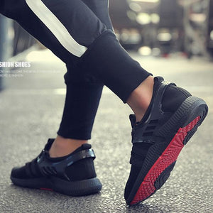 Trendy Black Sneaker Shoes
