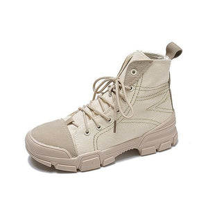 Women's British Street Style High Top Martin Boots