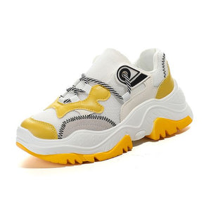 Trendy Color Block Dad Sneaker Shoes - Abershoes