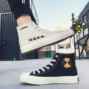 Trendy Student Style High Top Canvas Shoes - Abershoes