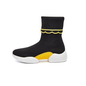 Pure Color FlyKnit Sock Shoes - Abershoes