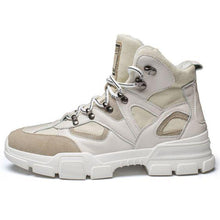 Load image into Gallery viewer, Chic High Top Beige/Black Martin Boots - Abershoes