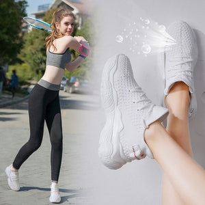 Trendy Breathable FlyKnit Dad Sneaker Shoes - Abershoes