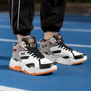 2019 Color Block High Top Sneaker Shoes - Abershoes