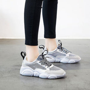 Women's Cute Comfortable Low Cut Mesh Sneaker Shoes - Abershoes