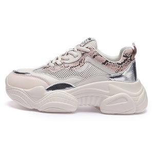 Trendy Summer Breathable Mesh Dad Sneaker Shoes - Abershoes