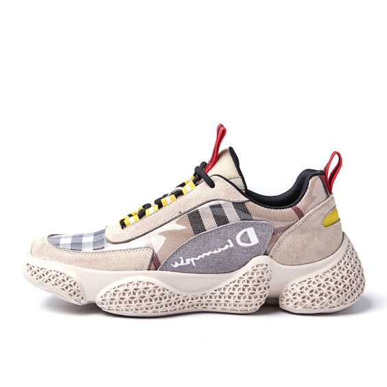 Hot Trend Color Block Grid Sneaker Shoes - Abershoes