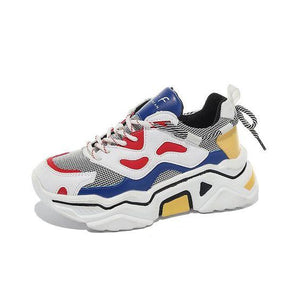 Trendy Color Block Mesh Breathable Sneaker Shoes - Abershoes