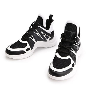 Women's Mesh Breathable Color Block Sneaker Shoes - Abershoes