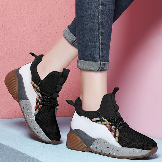 2019 Women's Color Block Sneaker Shoes - Abershoes