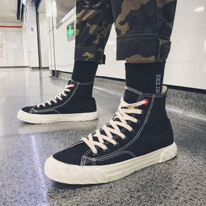 Men's Stylish High Top Hip Hop Canvas Shoes - Abershoes