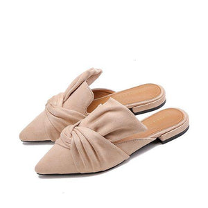 Women's Chic Pointed Flat Sandal Shoes - Abershoes