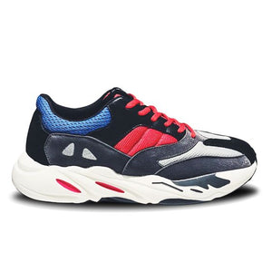 Men's Trendy Color Block Breathable Running Sports Shoes - Abershoes