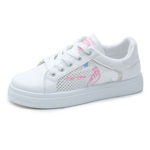 Trendy Summer Mesh Breathable White Shoes - Abershoes