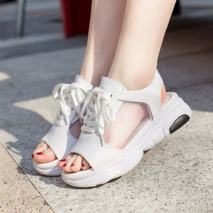 Trendy Summer Fish Mouth Sport Sandals - Abershoes