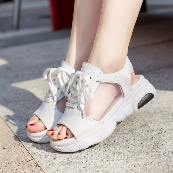 Trendy Summer Fish Mouth Sport Sandals