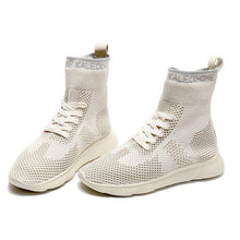 Load image into Gallery viewer, Women's Pure Color High Top Sock Shoes - Abershoes