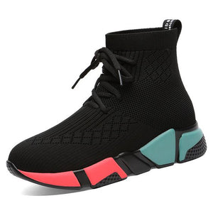 Color Block High Top Casual Sneaker Shoes - Abershoes