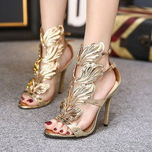 Load image into Gallery viewer, Women's Metal Wing High Heel Sandals - Abershoes