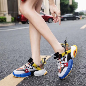 Women's Stylish Color Block Breathable Sneaker Shoes - Abershoes