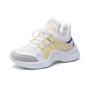Women's Plus Size 43 Color Block Sneaker Shoes - Abershoes
