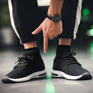 High Top Breathable Air Sock Sneakers - Abershoes