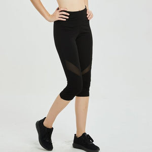 Mesh Panel Workout Gym Yoga Leggings - Abershoes